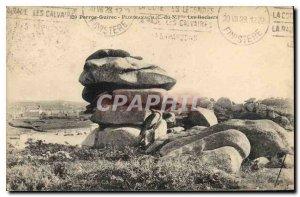 Old Postcard Perros Guirec Ploumanach C N The Rocks