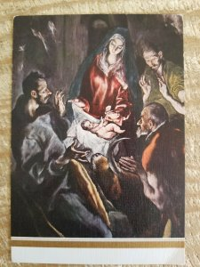 ADORATION OF THE SHEPHERDS BY EL GRECO.VTG UNUSED POSTCARD*P10