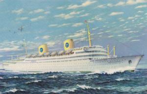 MS Gripsholm, Swedish American Line, Cruise Ship, PU