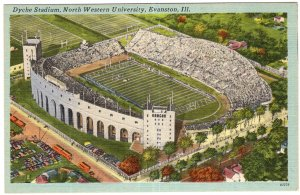 Evanston, Ill, Dyche Stadium, North Western University