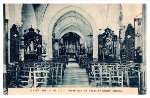 13476  Etaples   Interior  l'Eglise  Saint Michel