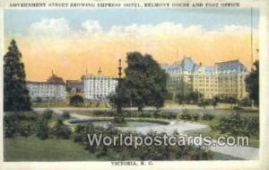 British Columbia, Canada Government Street, Empress Hotel Victoria  Governmen...
