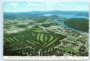 Coeur d'Alene Idaho Coeur d'Alene Golf Course Aerial View 4x6 Postcard A43