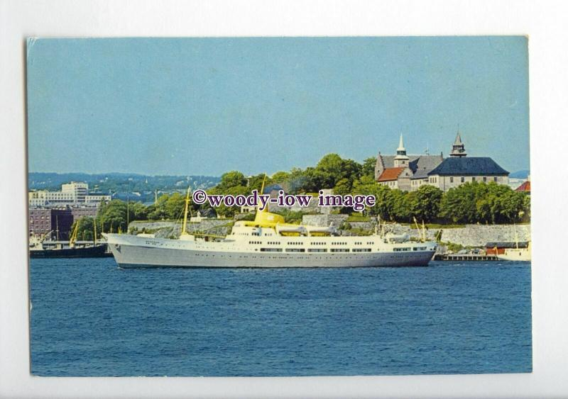 FE2081a - Norwegian Fred Olsen Ferry - Braemar , built 1953 - postcard