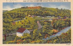 Weston And Clarksburg W Virginia~State 4H Camp Jacksons Mills~1983 Postcard