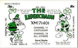 QSL Radio Card From Castlegar British Columbia Canada XM171401