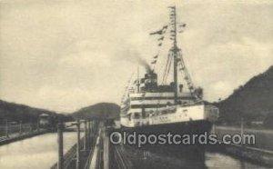 Passing Through the Canal Locks Ship Unused