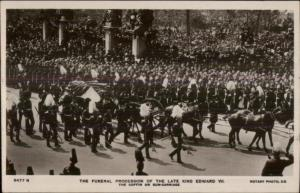 Funeral Procession King Edward VII c1910 Real Photo Postcard #1