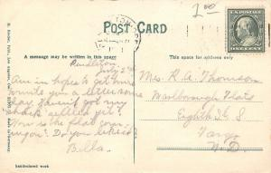 Pendleton Oregon~Episcopal Church~Plank Sidewalk~Homes Behind~1911 Postcard