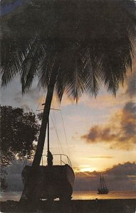 Tropical Sunset Barbados West Indies Postal used unknown