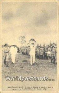 Arrivee du General de Gaulle Brazzaville, France, Carte, Unused