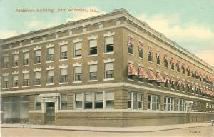 1913 Indiana Postcard Anderson Building Loan, Bicycles