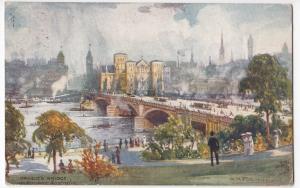 Australia; Princes Bridge, Melbourne PPC, Tilbury 1925 PMK