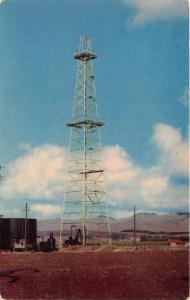 CUNNINGHAM KANSAS STEEL OIL DERRICK~VERA'S CAFE~U.S. HWY 54 POSTCARD 1960s