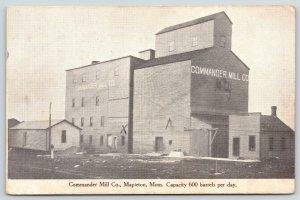 Mapleton Minnesota~Commander Mill Co~Grain Elevator~X Marks Break Down~1909