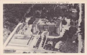 Wisconsin Wasau Aerial View St Marys Hospital and School of Nursing Artvue