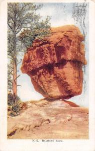 USA Balanced Rock Garden of the Gods 1914