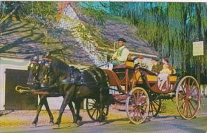 Virginia Williamsburg Horse and Carriage Mulberry Phaeton Passing Deane Forge