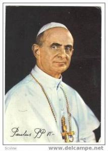 Portrait Of Pope Paulus PP VI, Italy, PU-1964