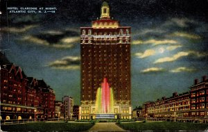 New Jersey Atlantic City Hotel Claridge At Night 1952