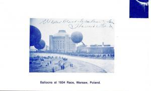 Balloons at 1934 Race, Warsaw, Poland