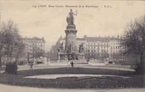 France Lyon Place Carnot Monument de la Republique 1911