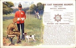 British UK Military East Yorkshire Regiment 15th Foot Info Postcard IBBETSON