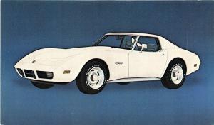 1975 Chevrolet Corvette Sport Coupe Original Advertising Postcard