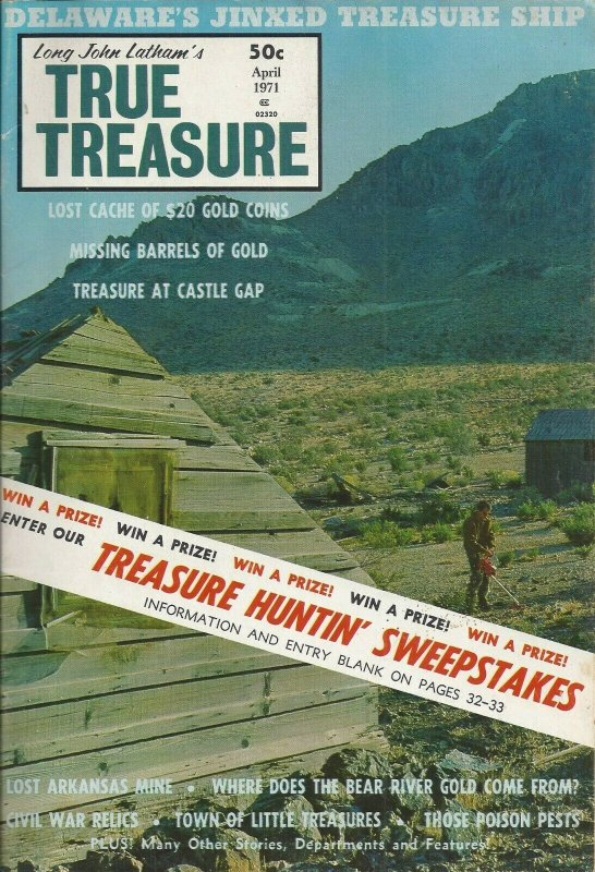 Long John Latham's True Treasure Vintage April 1971 Magazine
