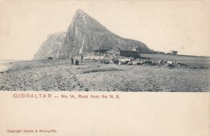 P1876 old postcard gibraltar #14, rock from the n.e.