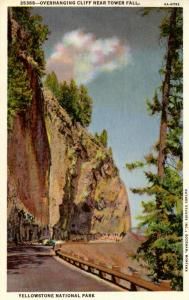 WY - Yellowstone National Park. Overhanging Cliff near Tower Fall     (Haynes)