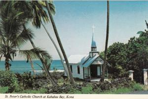 KONA, Hawaii , 1940-60s ; St. Peter's Catholic Church at Kahaluu Bay