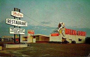 Mississippi Meridian Nelva Restaurant & Court 1968
