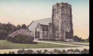 Maine Poland Spring The Chapel Handcolored Albertype