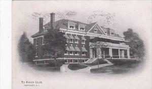 Rhode Island Pawtucket To Kalon Club 1918