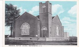 Immanuel Baptish Church, WESTMINSTER, South Carolina, 00-10s