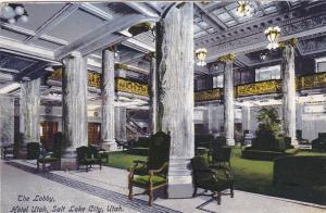 SALT LAKE CITY, Utah; The Lobby, Hotel Utah, 00-10s