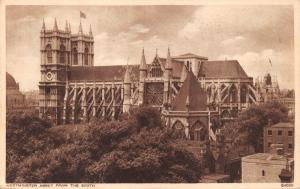 LONDON UK~WESTMINSTER ABBEY FROM THE SOUTH PHOTO POSTCARD 1944 US ARMY POSTAL PM