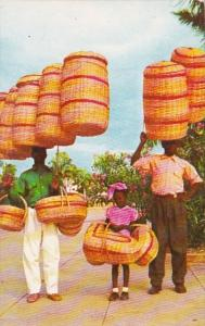 Haiti Native Basket Sellers