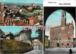 Postcard Modern Saluti da Volterra
