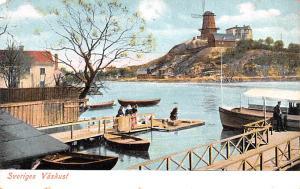 Sweden Old Vintage Antique Post Card Sveriges Vaskust Unused