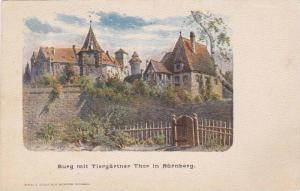 AS, Burg Mit Tiergartner Thor In Nurnberg (Bavaria), Germany, 1900-1910s