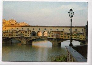 FIRENZE, Alba sul Ponte Vecchio, Dawn on the Old Bridge, used Postcard