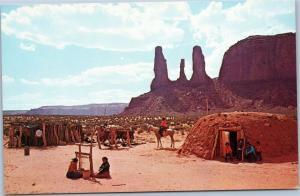Monument Valley - Three Sisters - with Navajo family Arizona