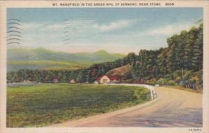 New Hampshire Stowe Mt Mansfield In The Green Mountains 1940 Curteich