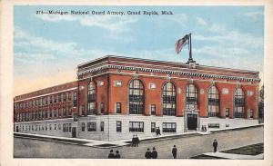 Grand Rapids Michigan~National Guard Armory~Postcard