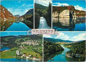 Postcard Modern Au Saut du Doubs Downfall Rock of Echo Basin Bernets Doubs