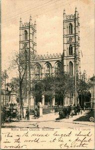 Vtg Postcard 1909 Montreal Canada - Notre Dame Church - Valentine & Sons