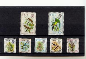 7 Fiji Stamps, 4, 5, 6, 8, 10, 25,40 cent, used