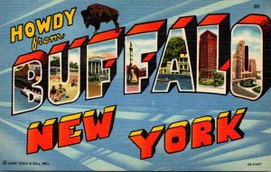 Greetings Howdy From Buffalo New York The City Of Good Neighbors Curteich